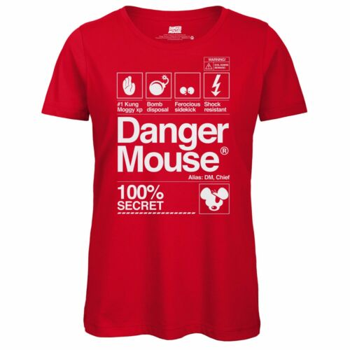 Officially Licensed Top Retro Tee Danger Mouse® 100/% Secret Ladies T-Shirt