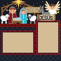 Premade-Double Page-Scrapbook Layouts- Nativity - 436
