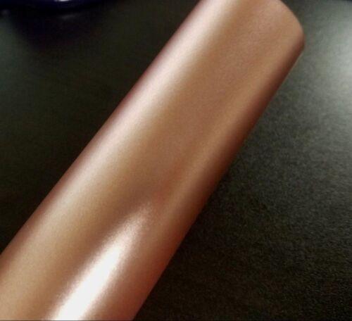 Satin Blush Gold Copper Metallic Vinyl Car Wrap Film Sticker Decal Sheet