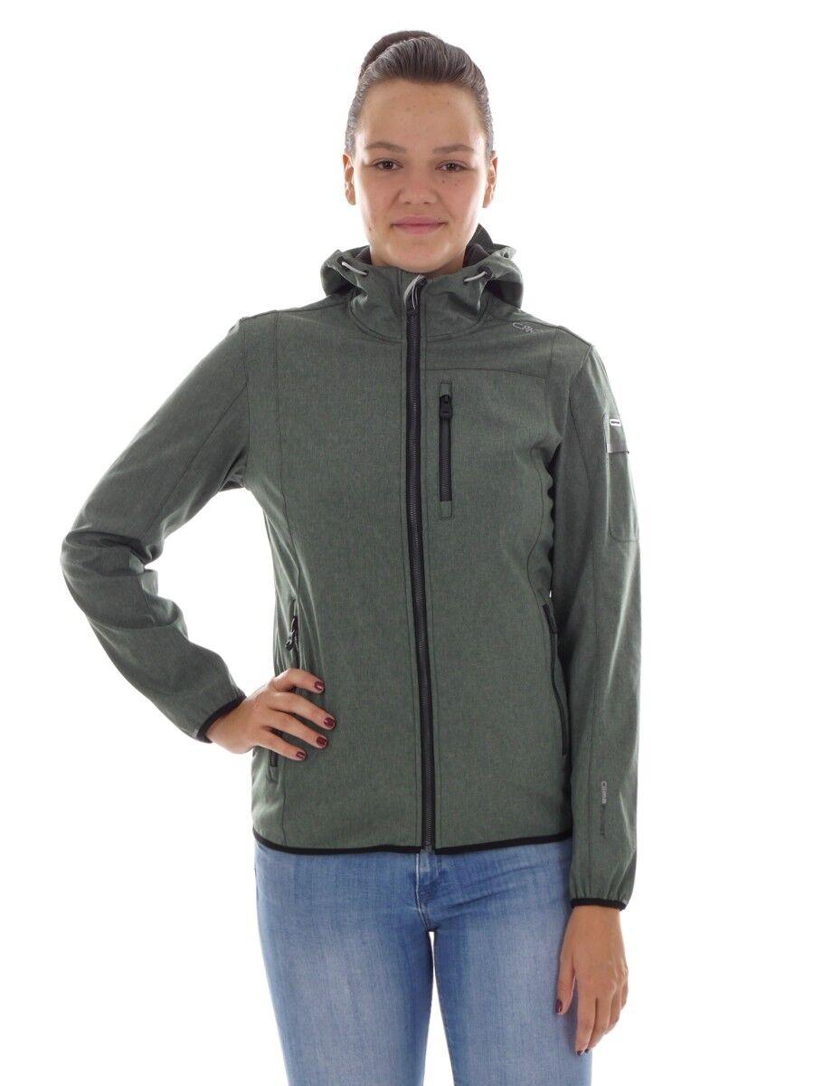 CMP Softshell chaqueta función chaqueta Sospechosovarón verde viento densamente Stretch