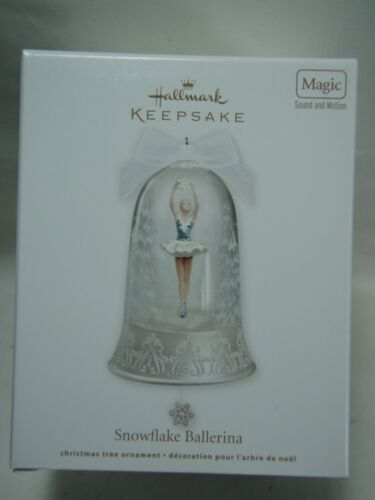 2012 Hallmark Keepsake Ornament Snowflake Ballerina Magic Sound Motion B20