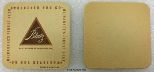 13 1950's BLATZ BEER COASTERS Wherever You Go Brewery Beer Pub Tavern