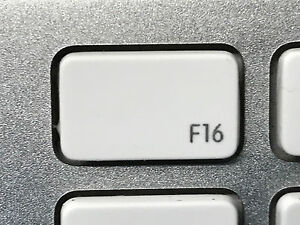 f16 replacement key a1243 apple wired keyboard white w hinge ebay. Black Bedroom Furniture Sets. Home Design Ideas