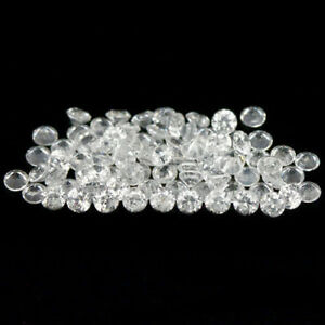 10-75-Carats-80PCS-2-6-2-7MM-Natural-WHITE-ZIRCON-Cambodia-for-Jewelry-Setting