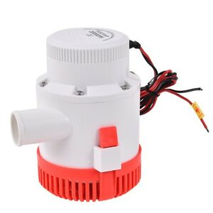 3500 GPH 12V 12A Electric Bilge Pump Marine Boat Yacht Submersible 1 1 2 Hose