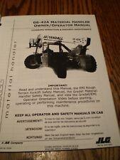 Gradall G6 42a Forklift Lift Truck Material Handler Operator Maintenance Manual
