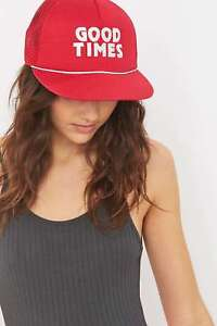 Image is loading Urban-Outfitters-BDG-Good-Times-Slogan-Trucker-Snapback- 7ffd53ccd025