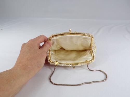 cremeweiße Kong Metallkette Vintage schließen Serpentine Perlen Hong Verschluss Clutch nHnCdwR