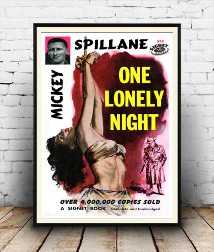One lonely night Vintage pulp book cover Poster reproduction.