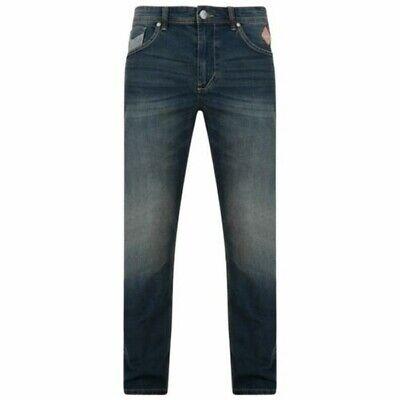 Kam Uomo Extra Lunghezza Stretch Affusolato Scuro Lavare I Jeans ( Ruben )