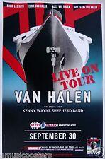 VAN HALEN / KENNY WAYNE SHEPHERD BAND 2015 SAN DIEGO CONCERT TOUR POSTER