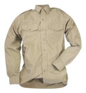 FAD British Army No 2 Uniform Short Long Sleeve Mans Fawn Shirt Issue Khaki Used