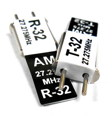 27mhz AM Transmitter and Radio RC Crystal Set 27 mhz 27.275 TX /& RX Black Ch 32
