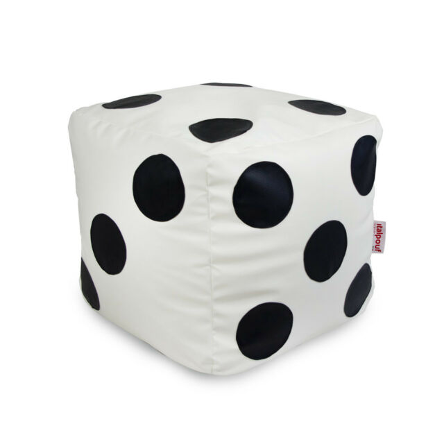 Groovy Bean Bag Chair Footstool Cubo Dice With Beans Filled Home Living Room Office Evergreenethics Interior Chair Design Evergreenethicsorg