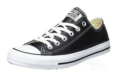 Converse Low Tops Black White OX Leather Womens Sneakers Tennis Shoes 132174C | eBay