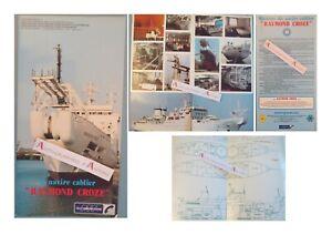 Navire-Cablier-RAYMOND-CROZE-plaquette-PTT-cables-sous-marins-Toulon-La-Rochelle