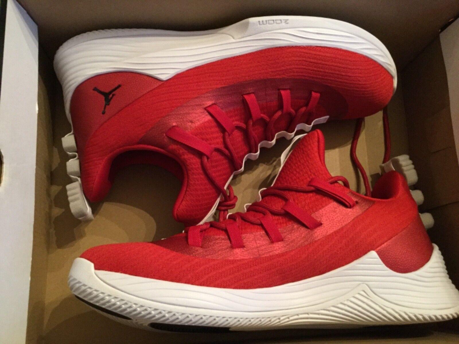 New Men's Nike Jordan Ultra Fly  2 Low shoes sneakers AH8110-601 Sz 10.5 gym red