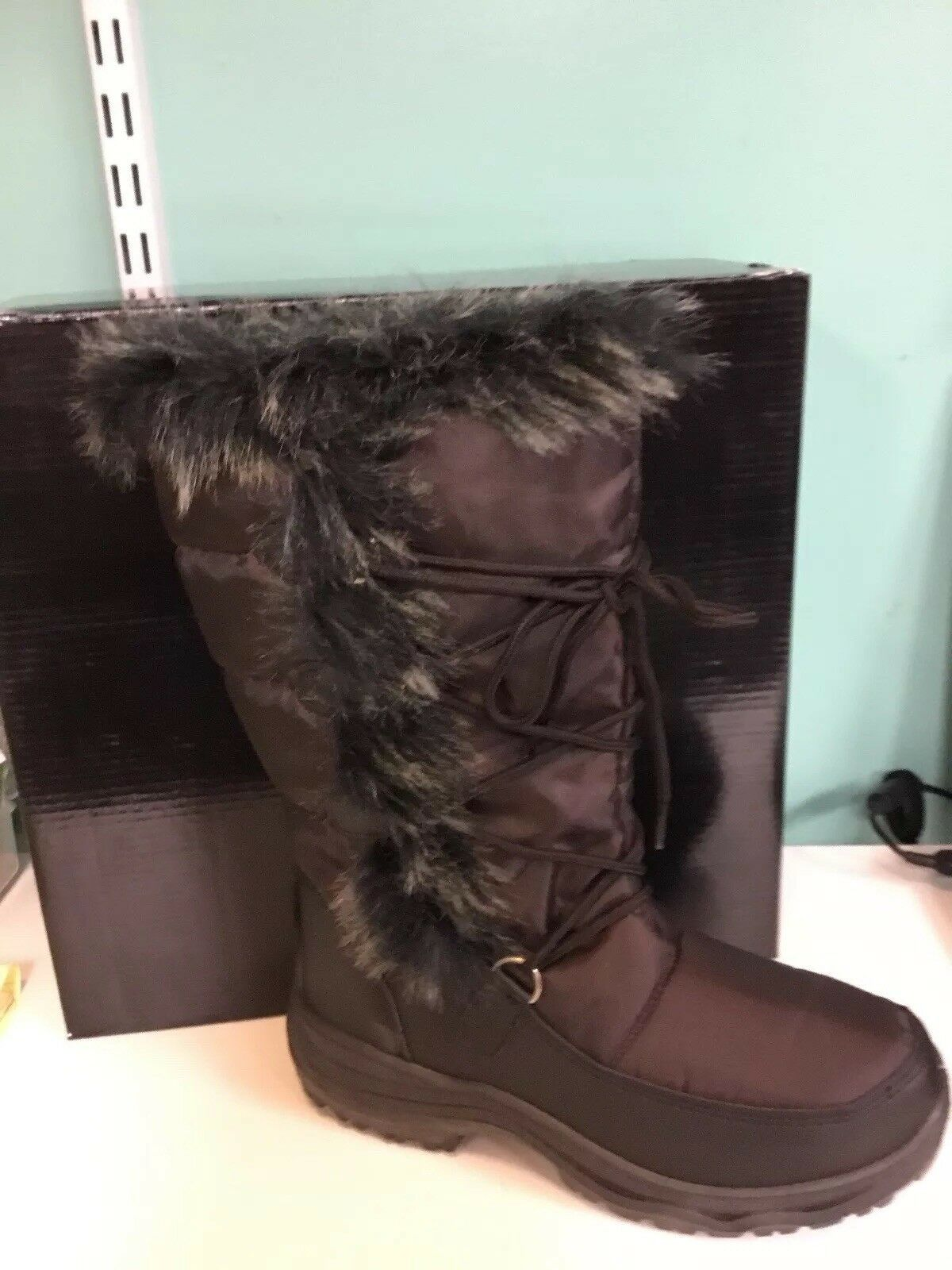New Womens Winter Snow Boots Brown Size 6