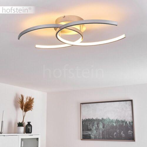 LED Decken Lampe Dimmer Wohn Schlaf Zimmer Beleuchtung silberfarben Flur Leuchte