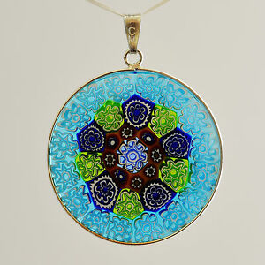 MURANO GLASS STLG SILVER PENDANT LARGE SIZE - 33mm ANTICA MURRINA ...