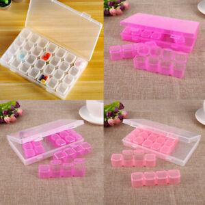 HD-AU-Clear-28-Slots-Nail-Art-Tools-Jewelry-Storage-Box-Pill-Make-Up-Case-Organ