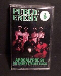 PUBLIC-ENEMY-Apocalypse-91-Enemy-Strikes-Back-Hip-Hop-Rap-Cassette-Tape-Def-Jam