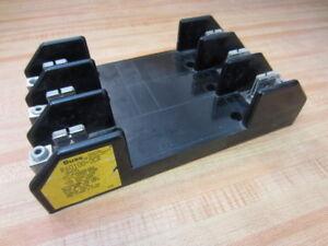 600V 100 Amp Cooper Bussmann R60100-3CR Fuse Holder 3 Pole USED