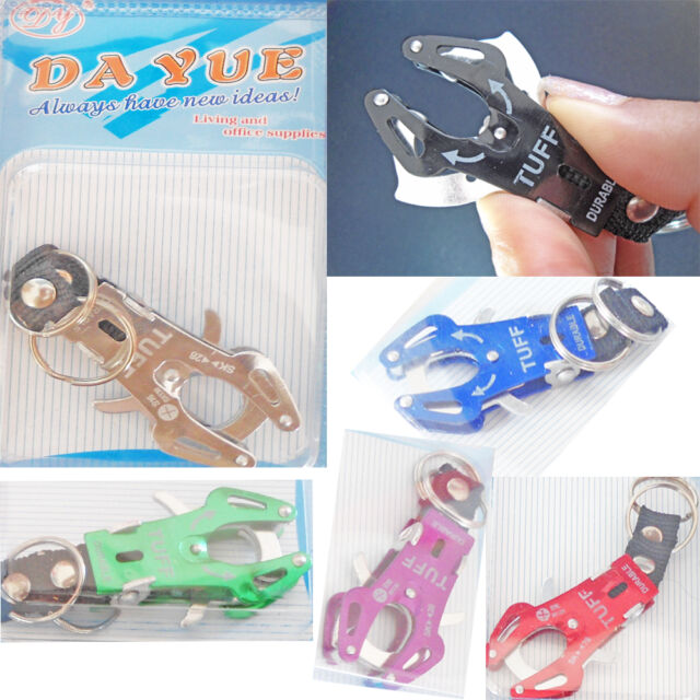 2 x Metal Snap Hooks Tough Durable Keychain Multi Use Dog Leash Camping Fishing