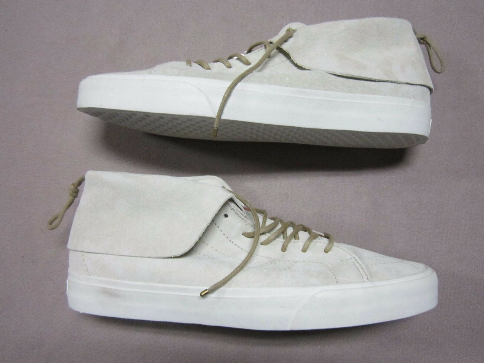 big sale 71b43 b50d1 VANS MENS SK8 MID MOC MOC MOC PIG SUEDE CREME OFF WHITE SNEAKERS SHOES SIZE  12