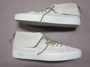 914f691801 VANS MENS SK8 MID MOC PIG SUEDE CREME OFF WHITE SNEAKERS SHOES SIZE ...