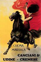 Marsala Liquor Lady Horse Cappiello Vintage Poster Advertising Repro Free Ship