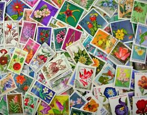 FLOWERS on Stamps, nice collection made up 200 different stamps (Lot#DP)