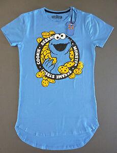 huge discount 0f23e 892b9 Details zu Krümelmonster Nachthemd Damen Sleepshirt Schlafshirt XS Cookie  Monster Primark