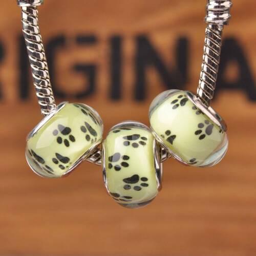 Hot 10pcs Résine Charme Blotter Big Hole beads Fit European Bracelet Crafts
