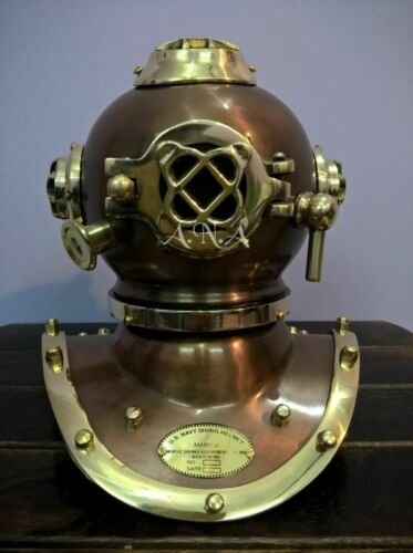 Diving Divers Helmet AntiqueBrass U.S Navy Mark V Vintage Maritime Collectible