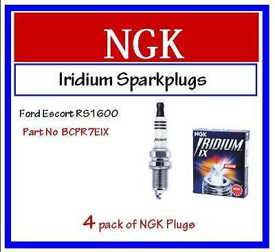 BCPR7EIX NGK IRIDIUM SPARK PLUGS FORD ESCORT 1.6 RS1600 CVH 82-/>84 x4