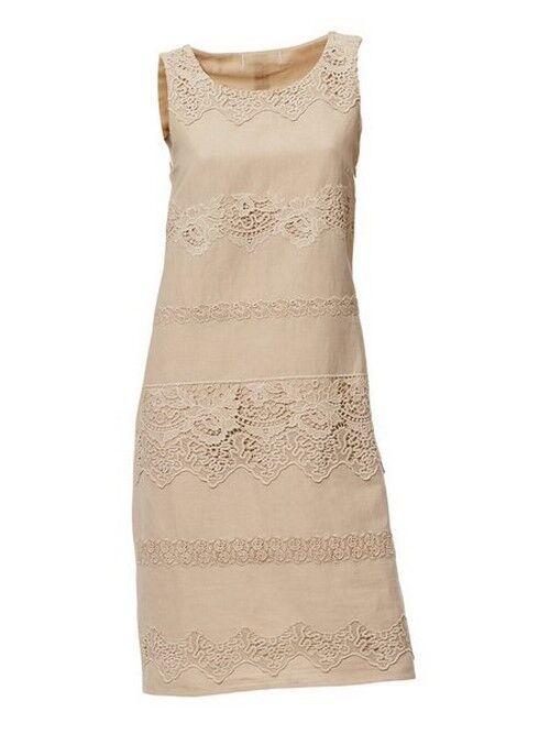 Vestido de punta estuche vestido vestido vestido vestido de lino patrizia Dini 34 38 nuevo cfcb21