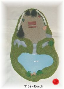 Busch-Ho-3109-Lake-With-Rest-Area-New-Original-Packaging