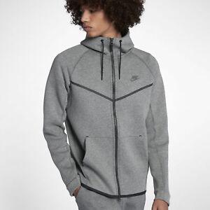 b4892612 Men's Nike Tech Fleece Windrunner Hoodie Heather Grey Carbon L-T LT ...