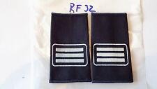 B518- Rangschlaufen Feuerwehr 2 Balken weiß auf schwarz 1Paar