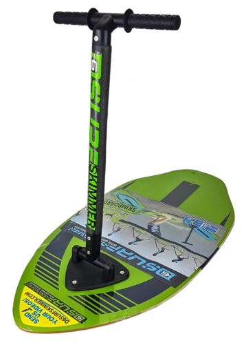 Green mit gripper Technologie 2 in 1 Surfbrett Wellenreiten Skimboard Surfskimmer D6 Blue