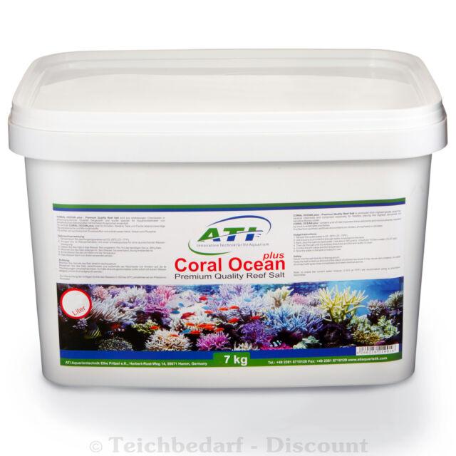 ATI Coral Ocean plus Meersalz Aquarium Riff Korallen Calcium Spurenelemente 7 kg