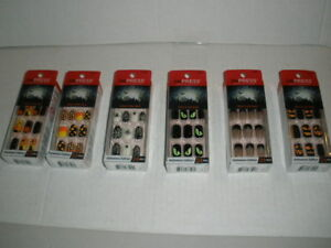 New-Kiss-imPress-Press-On-Manicure-Nails-Glow-in-the-Dark-Halloween-YOU-CHOOSE