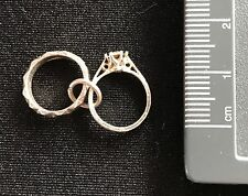 vintage Sterling Silver Wedding / Engagement Rings Charm / Pendant Collectible!