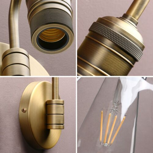 """5.9/"""" RETRO INDUSTRIAL DAMPPROOF BAR WALL SCONCE GLOBE GLASS LAMPSHADE WALL LIGHT"""