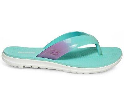 Skechers On The Go Nextwave Ultra Sandal Turquoise Pink Zehentrenner 16225//TQPK