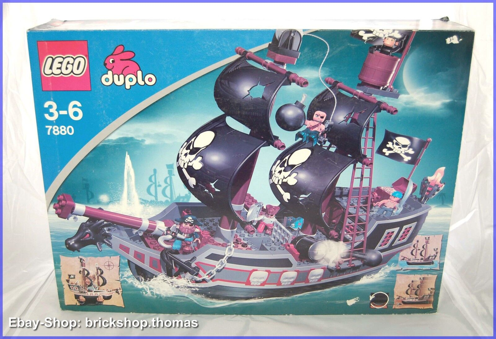 LEGO 7880 Duplo-Grande Nave dei Pirati-Big PIRATE SHIP-RAR-NUOVO OVP