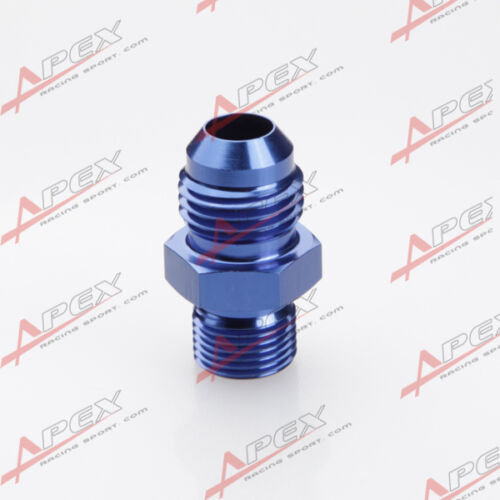 Metric Straight Fitting Blue mm Male 6AN 6AN Flare To M12  x 1.25