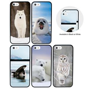Animaux-Arctiques-Pare-Chocs-Coque-Apple-iPhone-5-5s-SE-6-6s-7-8-Plus-X-XS-XR