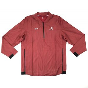 New Nike Alabama Crimson Tide Lockdown Jacket Men s Large Red 1 4 ... f935425ad93d7